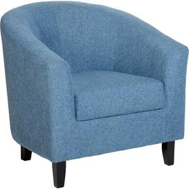 image-Calles Tub Chair Hashtag Home Upholstery Colour: Blue