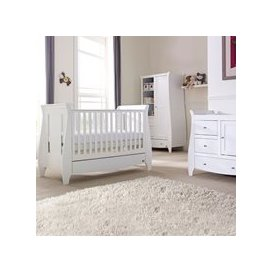 image-Tutti Bambini Lucas Cot Bed 3 Piece Nursery Set in White
