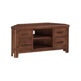 image-Areli Wooden Corner TV Stand In Dark Acacia Finish