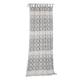 image-Deguzman Tab Top Blackout Single Curtain Brayden Studio Curtain colour: Dark grey/Grey, Size: 175cm H x 132cm W