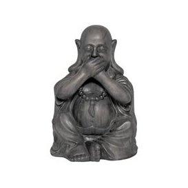 image-Buddha Speak No Evil Garden Ornament
