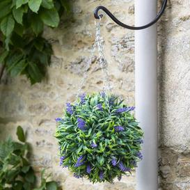 image-Elements Artificial Purple Flower Hanging Topiary Ball Purple