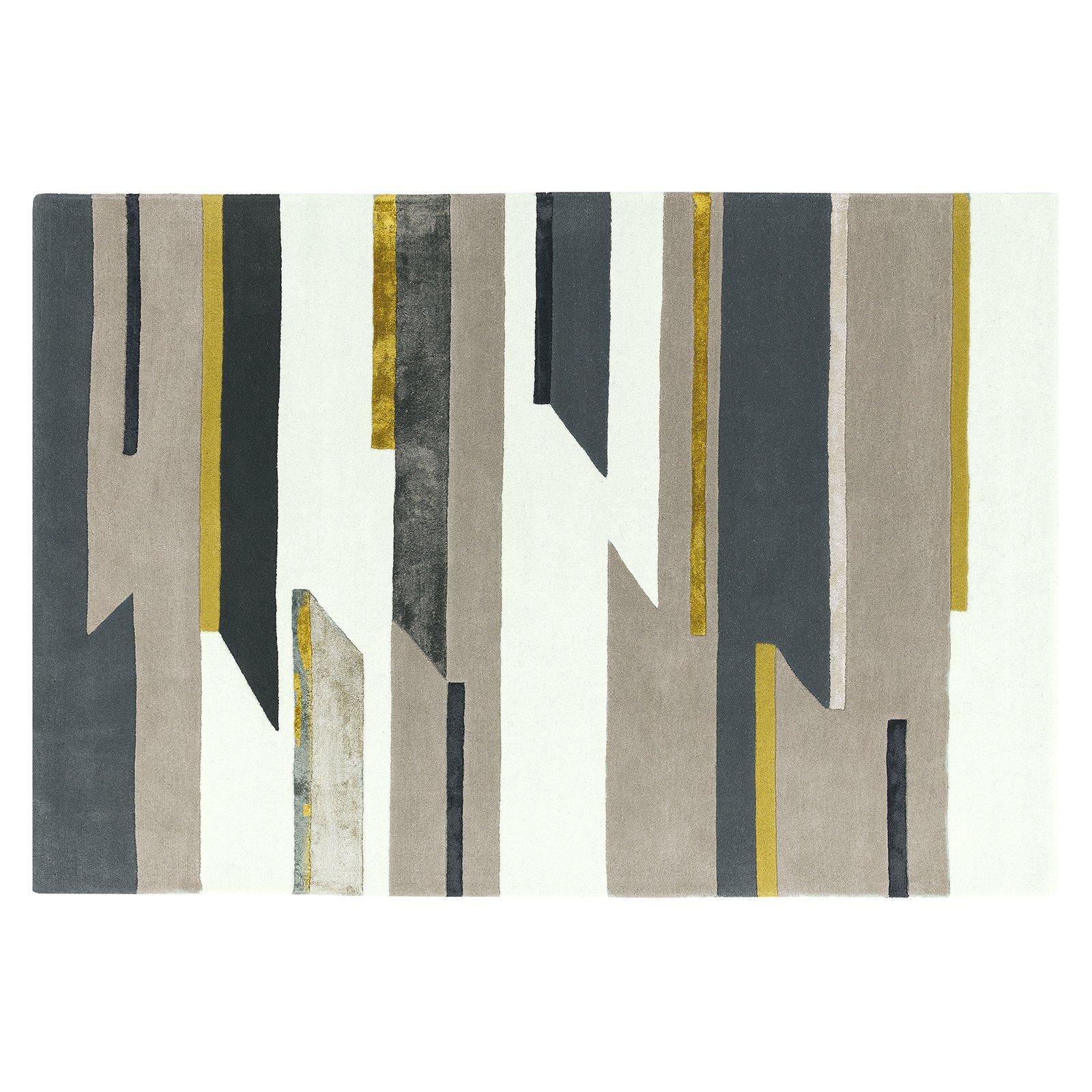 image-Quatro Wool Rug, 120X170 cm, Mustard