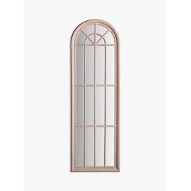 image-Isabella Arched Mirror, 180 x 60cm, Antique White