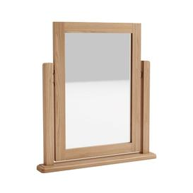 image-Exeter Light Oak Furniture Dressing Table Mirror