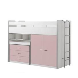 image-Briggs High Sleeper Bed with Drawers and Desk Isabelle & Max