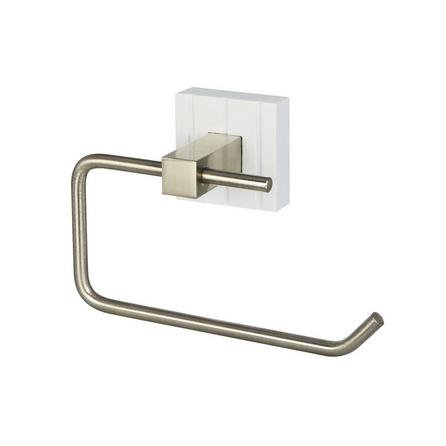 image-Tongue and Groove Toilet Roll Holder White