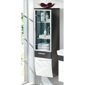 image-Rima 40 x 134.6cm Wall Mounted Cabinet Belfry Bathroom Finish: Anthracite - White
