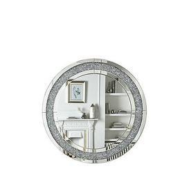 image-Glitz Round Wall Mirror