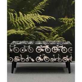 image-Upholstered Bench Bikes Bazaar Upholstery: Black