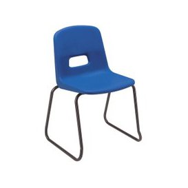 image-Reinspire RF70 Skid Base Classroom Chair, 11-14 Years - 40wx38dx43h (cm), Blue, Free Standard Delivery