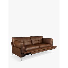image-John Lewis & Partners Java II Motion Medium 2 Seater Leather Sofa with Footrest Mechanism, Metal Leg