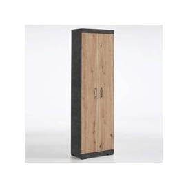 image-Holte Hallway Wardrobe In Matera And Artisan Oak With 2 Doors
