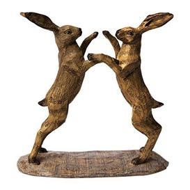 image-Naturecraft Collection Resin Ornament - Boxing Hares