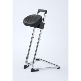 image-Height-adjustable office stool Symple Stuff Colour: Chrome
