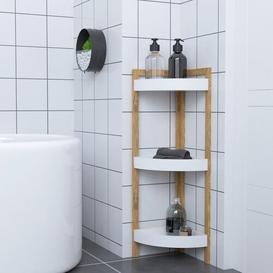 image-Fishel 23 x 77cm Bathroom Shelf Belfry Bathroom Finish: Natural/White