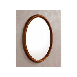 image-Camel Treviso Night Cherry Wood Italian Oval Mirror - 68cm x 95cm