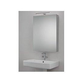 image-John Lewis & Partners Premiere Single Mirrored and Illuminated Bathroom Cabinet