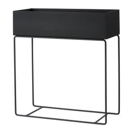 image-Ferm Living - Raised Metal Plant Box - Black