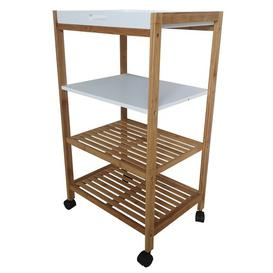 image-Burgos Kitchen Trolley with Manufactured Wood Top Brambly Cottage