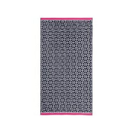 image-Joules Tile Geo Hand Towel, French Navy