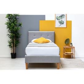 image-Crissman Single (3') Upholstered Bed Frame with Mattress Corrigan Studio Size: Single (3'), Colour: Grey, Mattress Type: Memory Foam