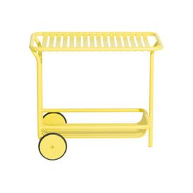 image-Week-End Dresser - / Aluminium - Casters by Petite Friture Pale yellow