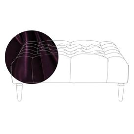 image-Heal's Balmoral Ottoman Velvet Grape Black Feet