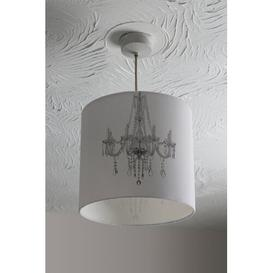 image-Chandelier Cotton Drum Lamp Shade