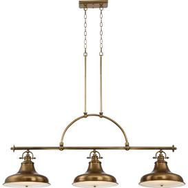 image-Bridges 3-Light Kitchen Island Pendant Williston Forge Finish: Weathered Brass