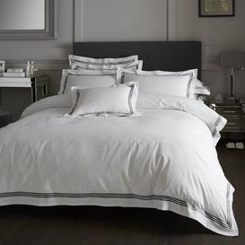image-Amberwood 180 TC Duvet Cover Set Three Posts Bed Size: Single - 1 Standard Pillowcase, Colour: White/Black