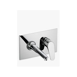 image-John Lewis & Partners Eden Wall Mounted Basin/Bath Filler Bathroom Tap, Chrome