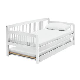 image-Argos Home Andover Wooden Day Bed and Trundle - White