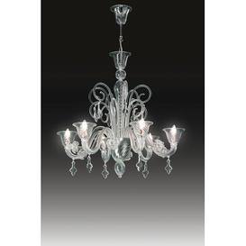 image-Alvise 3-Light Crystal Chandelier Voltolina Size / Frame Colour / Light: 85cm Width / Black - Nickel / 3 Light