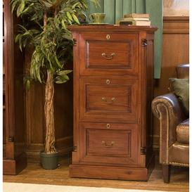 image-La Roque Mahogany Furniture Three Drawer Filing Cabinet