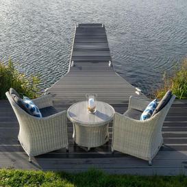 image-2021 Bramblecrest Monterey Garden Bistro Set With Ceramic Adjustable Table - Dove Grey