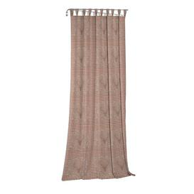 image-Devos Tab Top Blackout Single Curtain Union Rustic Curtain colour: Brown/Grey, Size: 245cm H x 132cm W