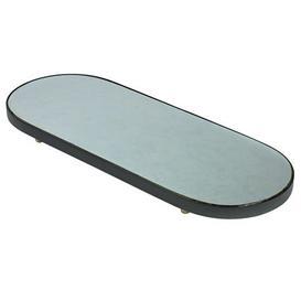 image-Reflect XL Tray - Oval Mirror - 80 x 31 cm by Serax Black,Natural wood,Mirror
