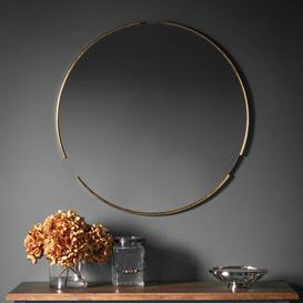 image-Gallery Direct Fitzroy Round Mirror Gold