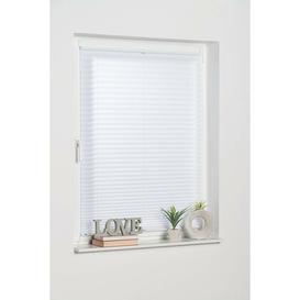 image-Semi-Sheer Pleated Blind Mercury Row Finish: White, Size: 45 W x 130 L cm