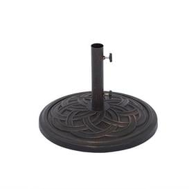 image-Black Antique Scroll 13kg Parasol Base Black