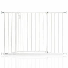 image-Bella Vista Pressure Mounted Pet Gate Archie & Oscar Colour: White, Size: 103cm-109cm