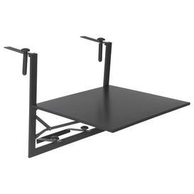 image-Atla Folding Steel Balcony Table Sol 72 Outdoor Colour: Graphite, Size: 56cm H x 53cm W x 60cm L