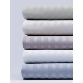 image-Hotel Collection Luxury 300 Thread Count Soft Touch Sateen Stripe Flat Sheet
