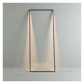 image-Shadow Dark Grey Metal Led Floor Lamp, Grey