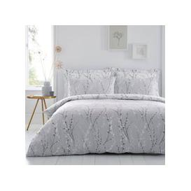 image-Belle Grey Reversible Duvet Cover and Pillowcase Set Grey and White