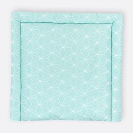 image-White Thin Diamonds Changing Mat KraftKids Size: 85 x 75cm, Colour: Turquoise