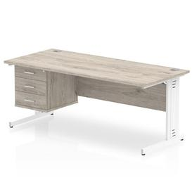 image-Zetta Executive Desk Ebern Designs