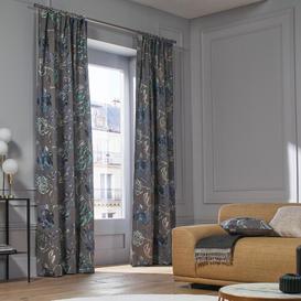 image-Magellan Pencil Pleat Semi Sheer Single Curtain Madura Colour: Blue, Panel Size: 135 W x 300 D cm