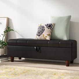 image-Norfolk Faux Leather Storage Bench Zipcode Design